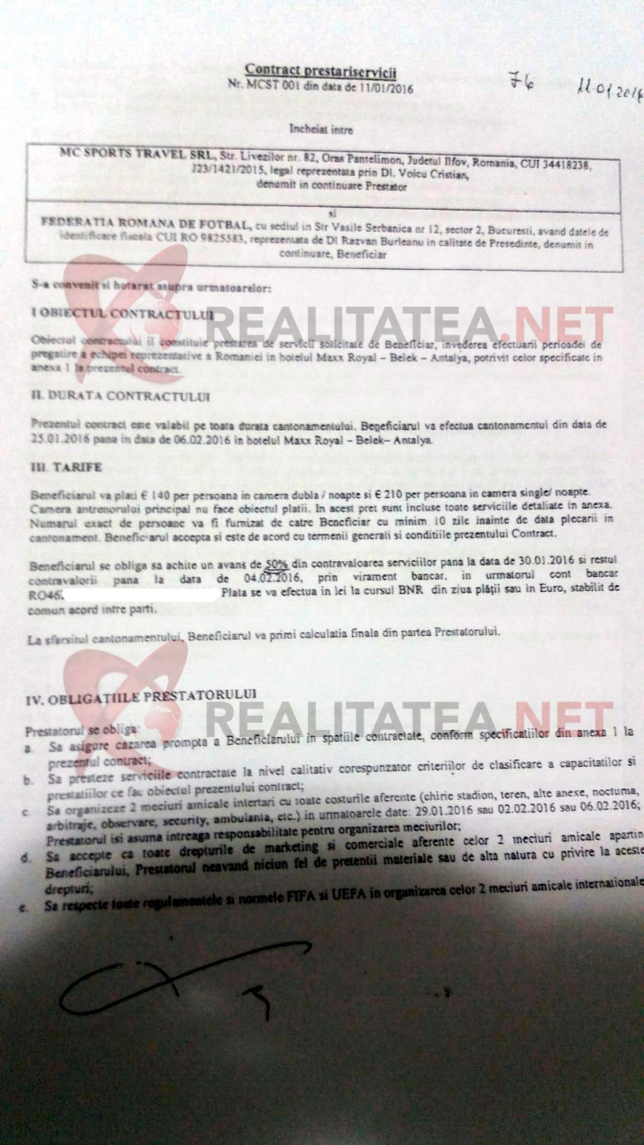 Realitatea.net are facturile. Pe ce a cheltuit FRF, sub semnatura lui Razvan Burleanu, 77.900 euro