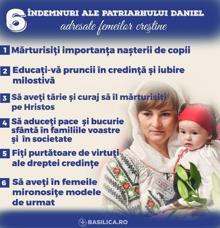 Duminică e mare sărbătoare! Îndemnurile speciale ale Patriarhului Daniel pentru femei