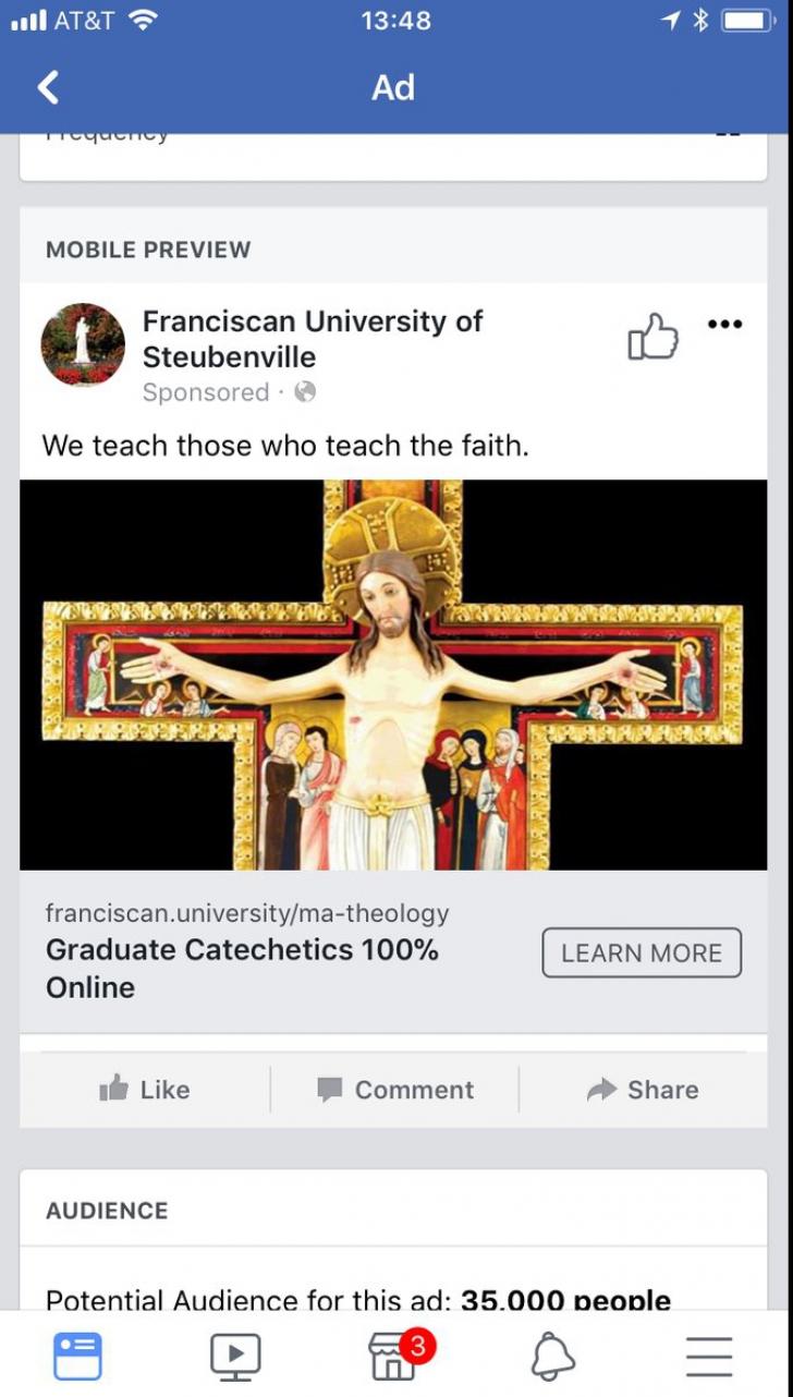 Poster interzis pe Facebook