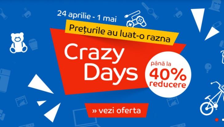 eMAG Crazy Days – Zile anapoda, preturi mult prea mici pentru produse mult prea bune
