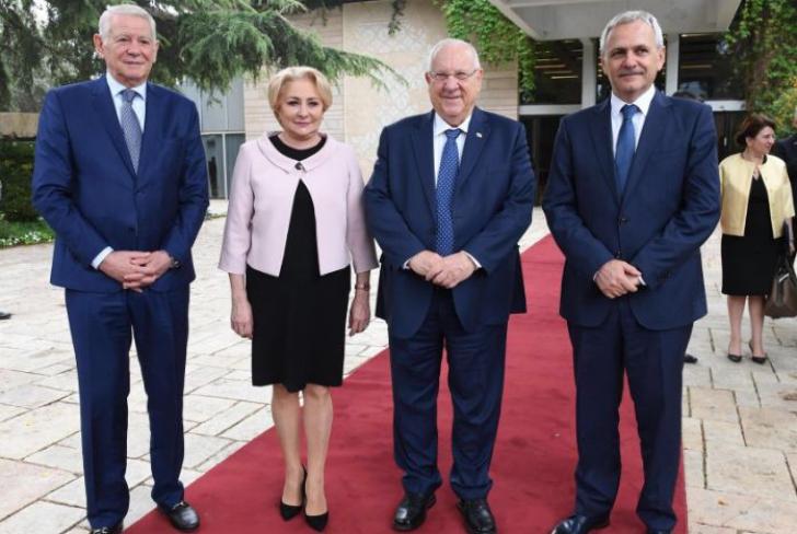 Președintele Israelului, alături de Liviu Dragnea, Viorica Dăncilă și Teodor Meleșcanu
