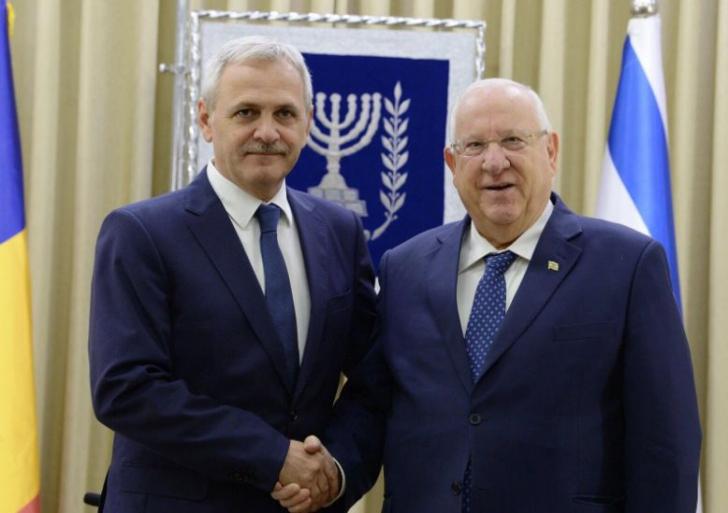 Președintele Israelului, alături de Liviu Dragnea