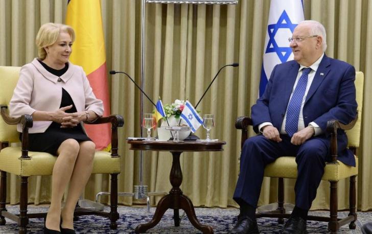 Președintele Israelului, alături de Viorica Dăncilă