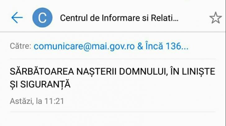 Poliția Română, gafă monumentală în mesajul de Paște. Au încurcat Învierea cu...Crăciunul