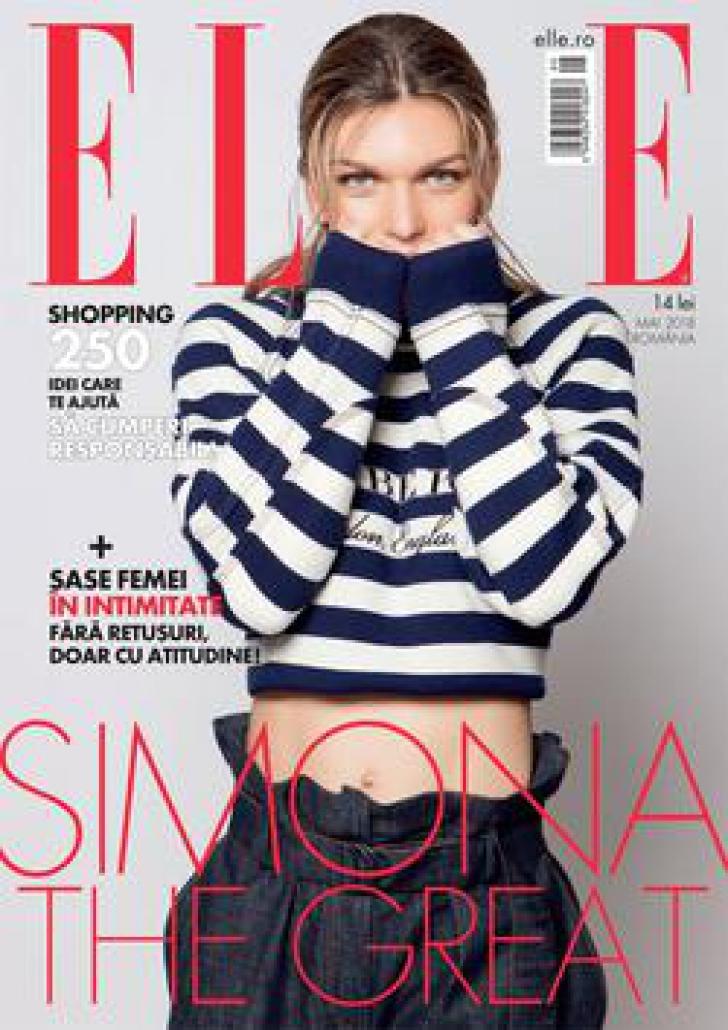 Simona Halep a pozat sexy, provocator, aşa cum n-am mai văzut-o, în paginile unei reviste