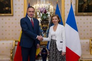 Mihai Fifor, întâlnire cu Florence Parly, ministrul francez al Apărării
