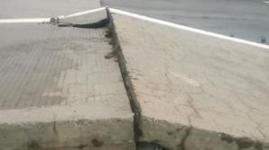 ATENŢIE şoferi! Trafic restricţionat pe Autostrada Soarelui: plăcile de beton s-au ridicat