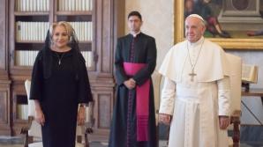 Viorica Dăncilă, primită de Papa Francisc