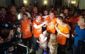 Cum a sărbătorit titlul campioana CFR Cluj. Show de zile mari! Imagini fabuloase