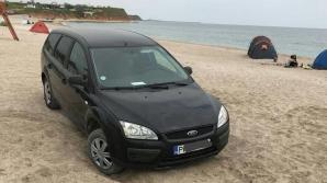 Amendă uriaşă pentru un tânăr care a parcat maşina pe... plajă