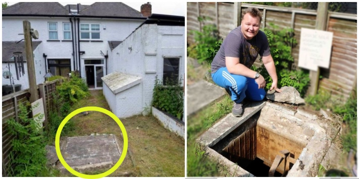 A renovat peluza casei, iar sub iarbă a găsit o trapă.A deschis-o, era un buncăr.COLOSAL ce ascundea