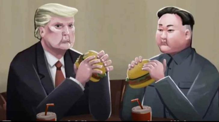Donald Trump şi Kim Jong un, liderul din Coreea de Nord