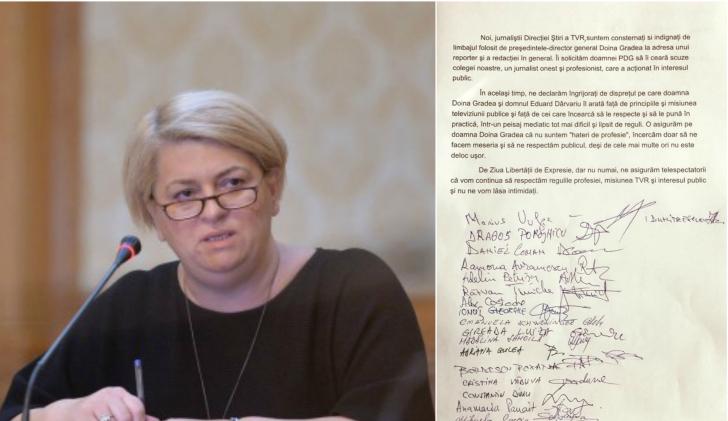 """Jurnaliştii TVR contratacă în scandalul """"cap de porc""""! Ce-i cer Doinei Gradea"""