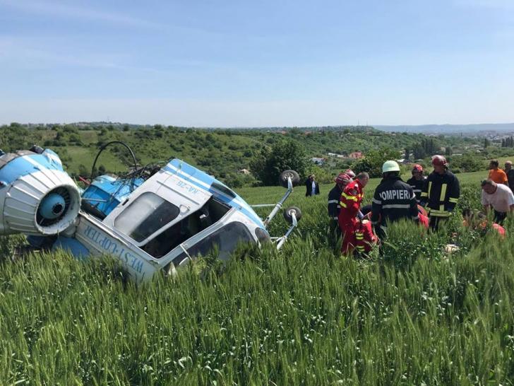 Elicopter prăbuşit la Turda