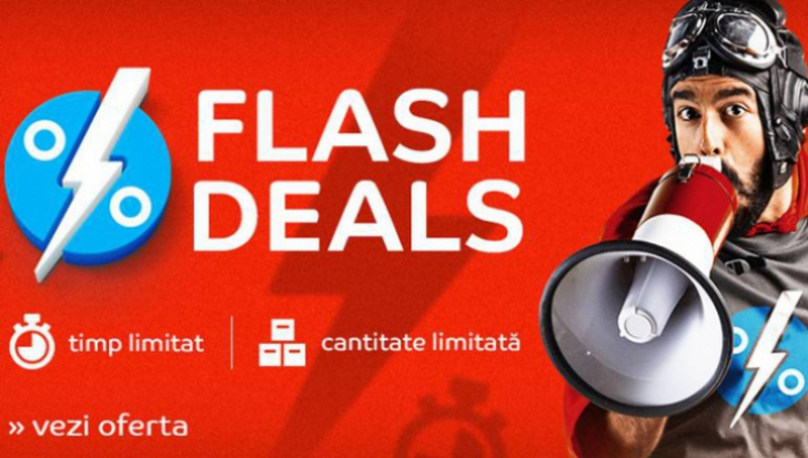 eMAG Flash Deals - Oferte care expira rapid. Uite ce bune eMAG la bataie