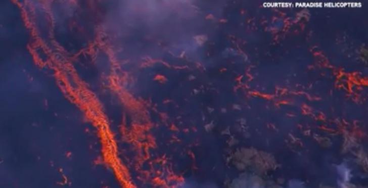 Fenomen spectaculos. Ce a apărut lângă vulcanul care a erupt în Hawaii
