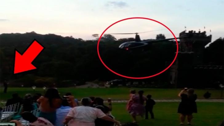 Mireasa s-a prăbușit cu elicopterul