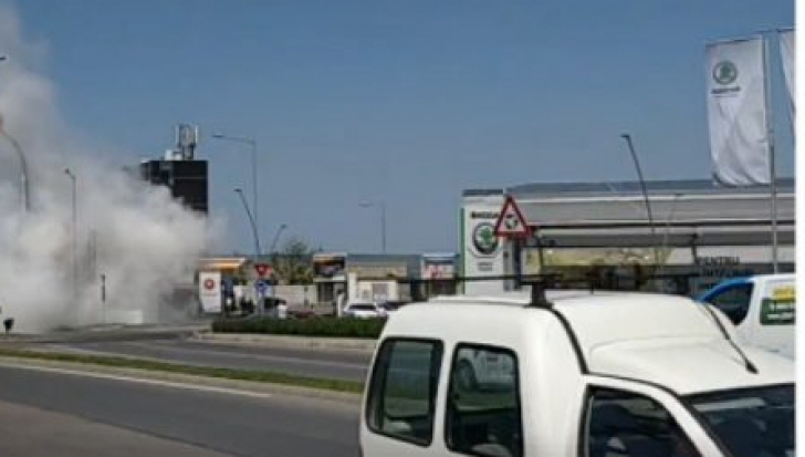 Caz şocant la Cluj Napoca. Şi-a dat foc în propriul autoturism
