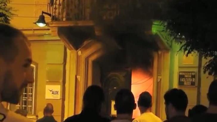 Incendiu Facultatea de Muzica Timisoara