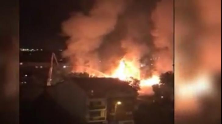 Incendiu la o scoala din Rahova