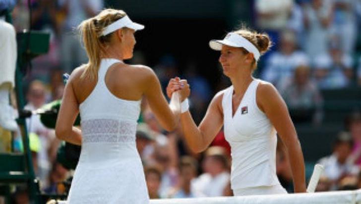 Irina Begu - Maria Şarapova. Irina Begu, umilită de Şarapova în setul 2. A pierdut meciul 5-7, 1-6