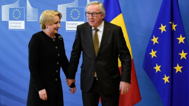 Viorica Dăncilă, alături de Jean Claude Juncker