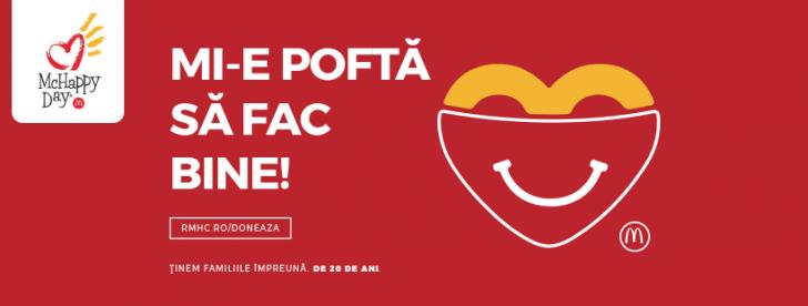 Vino la McHappy Day să susținem împreună Casele Ronald McDonald din România (P)