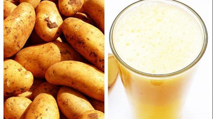 Sucul de cartofi întărește imunitatea, vindecă gastrita și alte boli ale stomacului