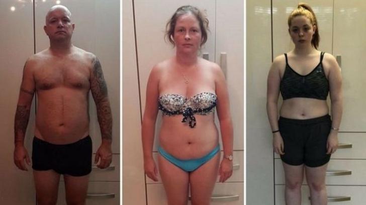 Incredibila transformare a unei familii. Tatăl, mama și fiica au slăbit împreună 38 kg