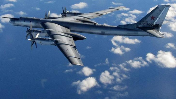 Un avion rusesc TU-95 Bear
