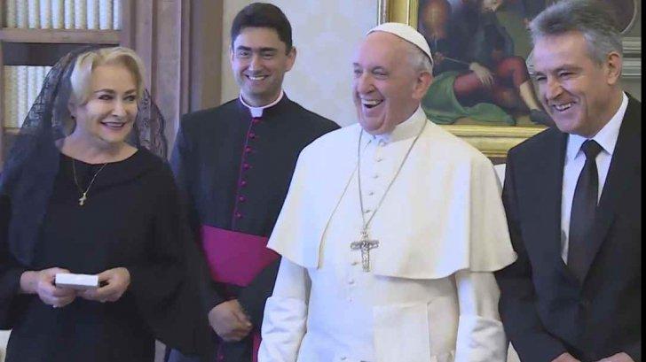 Viorica Dancilă, la Papa Francisc