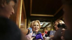 Premierul Dancila, în lift
