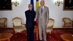 Teodor Meleșcanu și ambasadorul Iranului la București,Hamid Moayyer