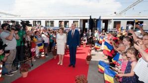 Custodele Coroanei, principele Radu şi principesa Maria - cu Trenul Regal în Dobrogea