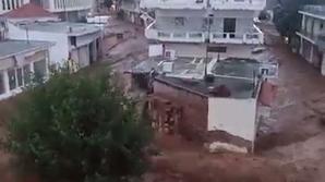 Dezastru în Grecia, din cauza ploilor abundente și a inundațiilor