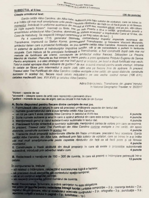 Evaluare Nationala 2018 Barem Romana