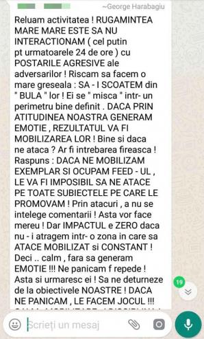 Mesajele trimise armatei de postaci a PSD