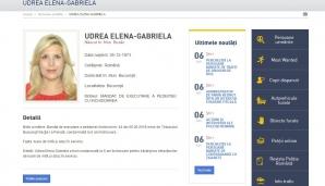 Elena Udrea a ajuns pe lista de URMĂRIŢI a Poliţiei Române