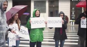 Protest pe trecerea de pietoni