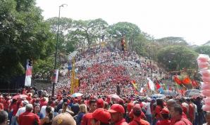 Manifestații pro-Maduro, la Caracas, Venezuela