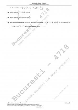 Subiecte BAC 2018 Matematica si Istorie