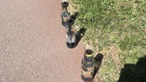 Tânăr de 18 ani, audiat în cazul cocktailuri-lor Molotov găsite lângă sediul PSD