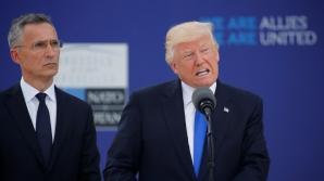 Donald Trump, alături de secretarul general al NATO, Jens Stoltenberg