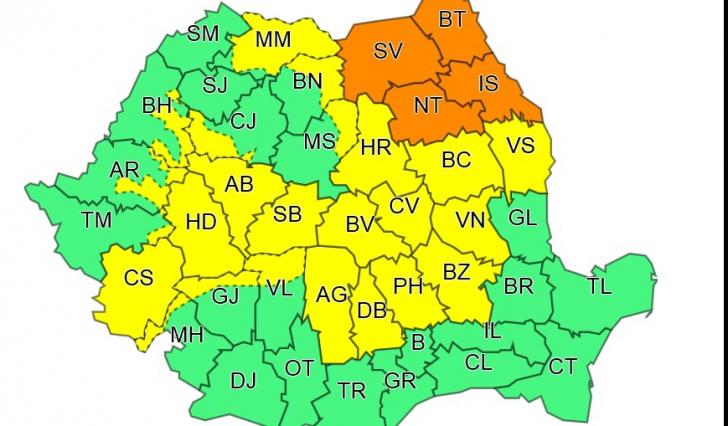 Harta Bistrita Nasaud Satelit