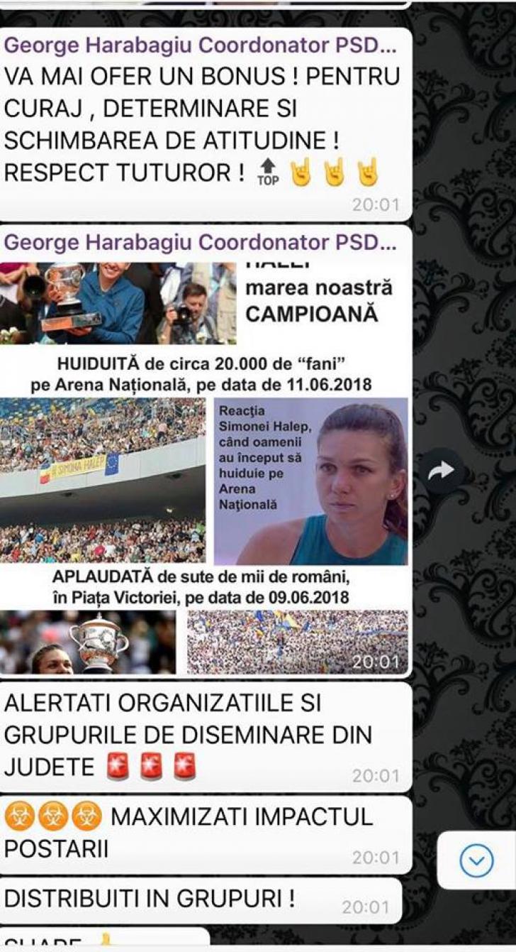 Mesajele postate de Ponta, atribuite PSD