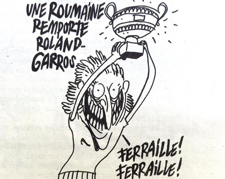 Caricatură în Charlie Hebdo cu Simona Halep
