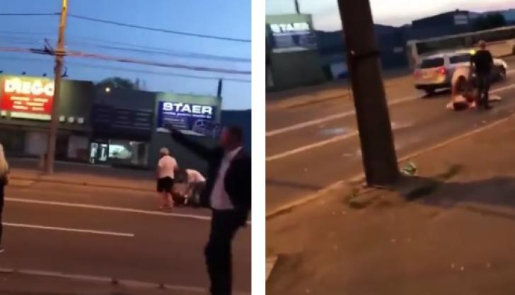 Scene de o violență extremă pe o stradă din Baia Mare: Trei tineri, bătuţi crunt