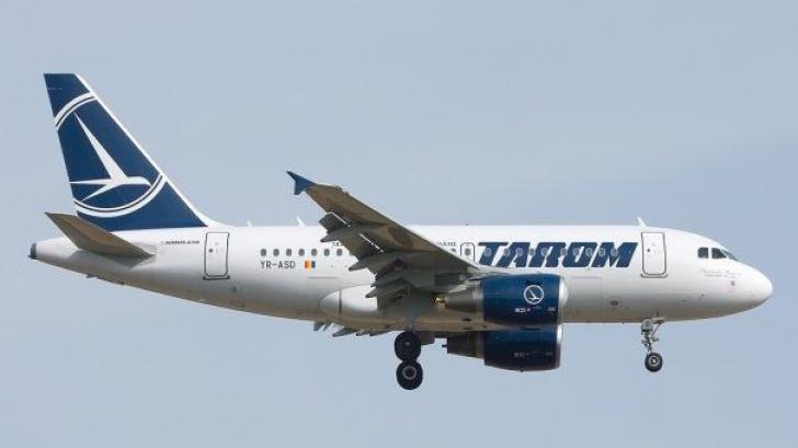 Incident aviatic. Un avion Tarom a fost lovit de un fulger