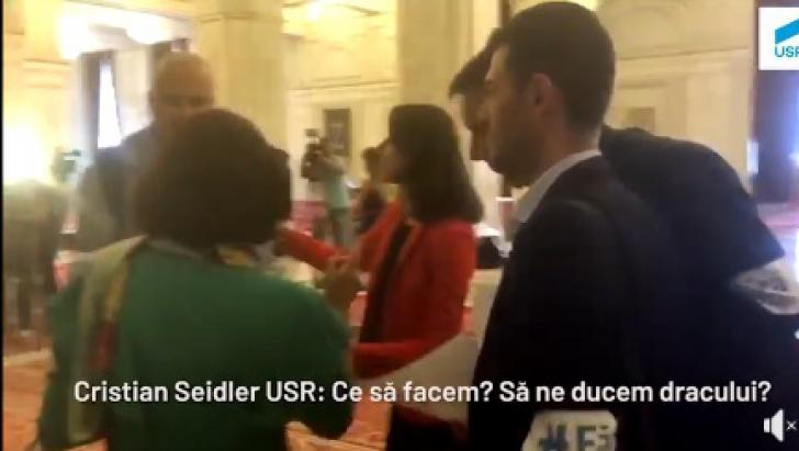 """VIDEO. Deputat PSD, către parlamentarii USR: """"Ia mai duceți-vă dracului! Nu vă e rușine?!"""""""