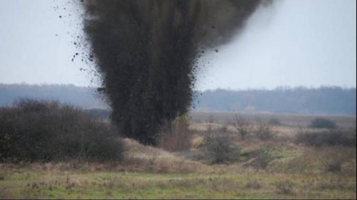 Buum! Distrugeri de muniție, pe Dealul Paiului din Deva